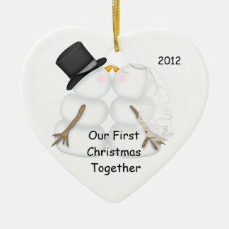 POPULAR First Christmas Together SNOWMAN ORNAMENT