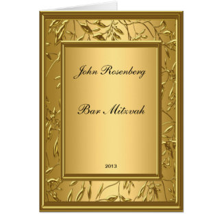 Popular Gold Bar Mitzvah Ceremony Card
