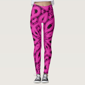Popular Hot Pink Star Rave Party Leggings