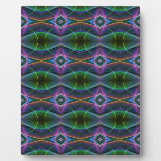 Popular Lavender Green Neon Pattern Plaque