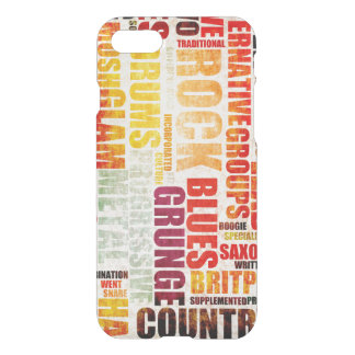 Popular Music Genres and Types on Grunge iPhone 7 Case