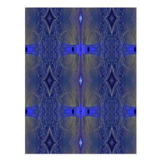 Popular Royal Blue Tribal Pattern Postcard