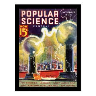 Popular Science Monthly, November 1936_Pulp Art Postcard