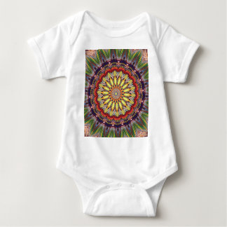 Popular Vibrant Mandala Pattern Baby Bodysuit