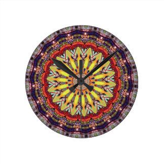 Popular Vibrant Mandala Pattern Round Clock