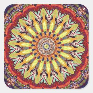 Popular Vibrant Mandala Pattern Square Sticker