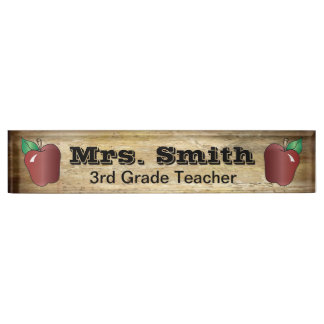 Popular Vintage Style School Teacher Name Plate