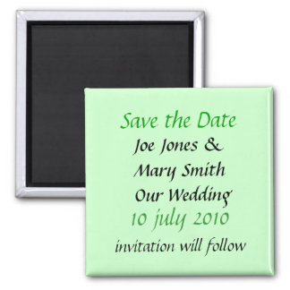 POPULAR WEDDING PRODUCTS SQUARE MAGNET
