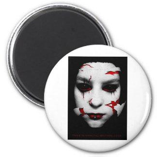 Porcelain 6 Cm Round Magnet