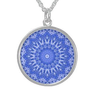 """""""Porcelain Blue"""" Sterling Silver Necklace"""