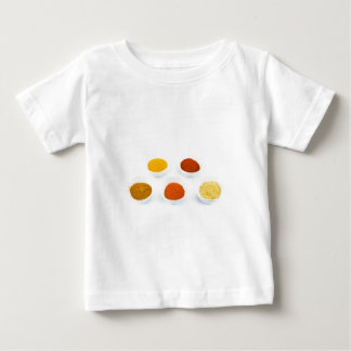 Porcelain bowls with several seasoning spices baby T-Shirt