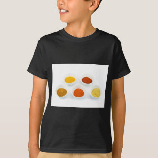 Porcelain bowls with several seasoning spices T-Shirt
