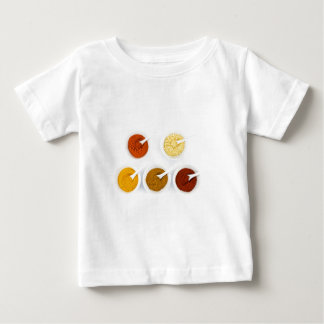 Porcelain bowls with various herbal spices baby T-Shirt