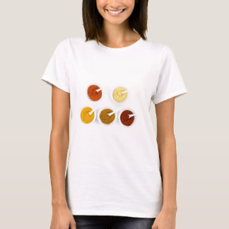Porcelain bowls with various herbal spices T-Shirt