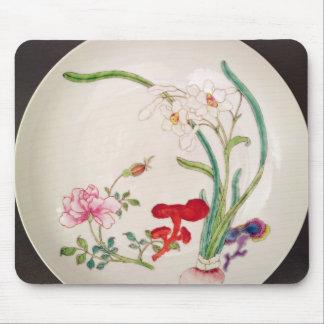 Porcelain dish, famille rose decoration, Yung Chen Mouse Pad