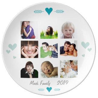Porcelain Family Photos Plate