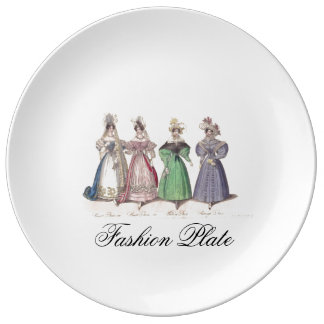 Porcelain Fashion Plate