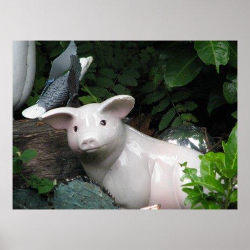 Porcelain Pig Poster