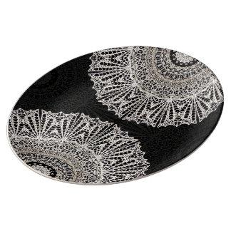 Porcelain Plate Mandala Mehndi Style G384