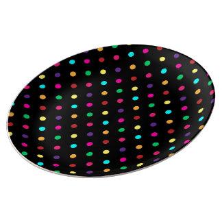 Porcelain Plate Polka Dot