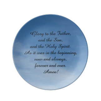 Porcelain plate, with oration in English Porcelain Plate