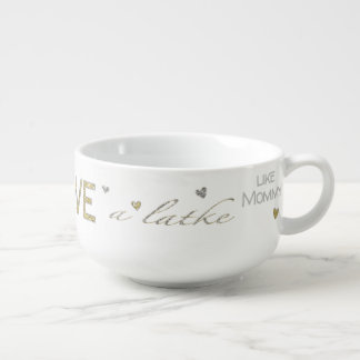 "Porcelain Soup Mug ""Love a Latke"""