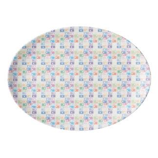 Porcelain tray porcelain serving platter