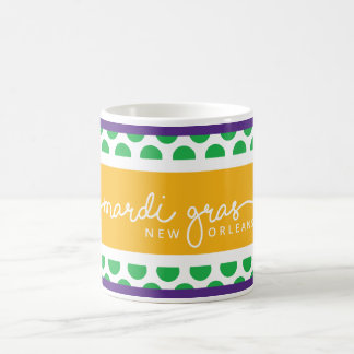 PORCH & DOG • POLKA DOT MARDI GRAS Coffee cup mug