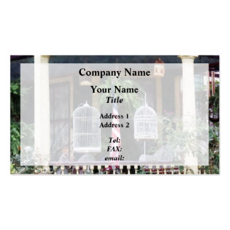 Porch With Bird Cages Business Card Templates