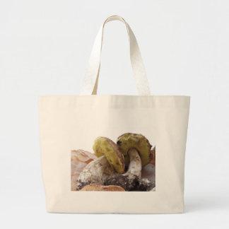 Porcini mushrooms isolated on white background jumbo tote bag