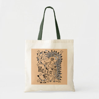 Porcupine and sakana A1 Tote Bag