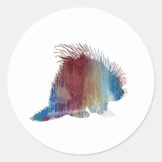 Porcupine Art Classic Round Sticker