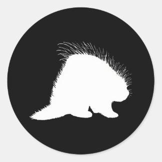 Porcupine Classic Round Sticker