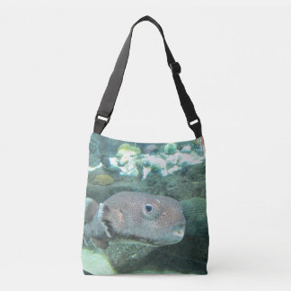 Porcupine Fish Close Crossbody Bag
