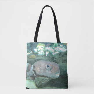 Porcupine Fish Close Tote Bag