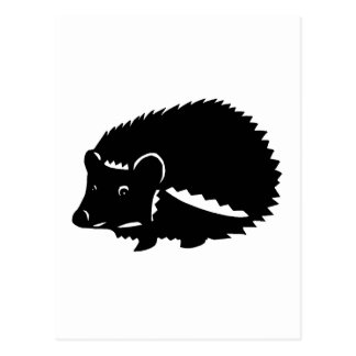Porcupine goods hedgehog postcard