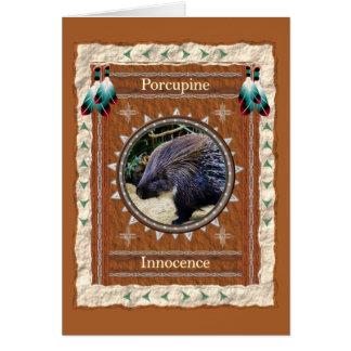 Porcupine  -Innocence- Custom Greeting Card