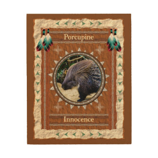 Porcupine  -Innocence- Wood Canvas