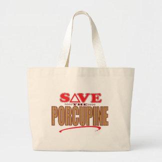 Porcupine Save Large Tote Bag
