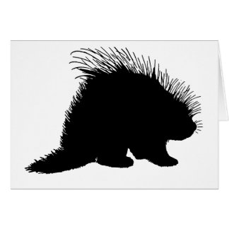 Porcupine silhouette card