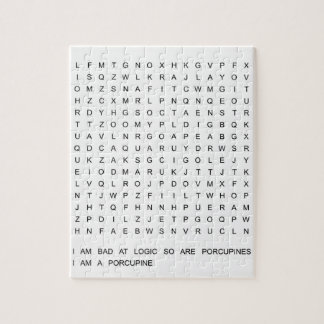 porcupine: word search within a puzzle! jigsaw puzzle