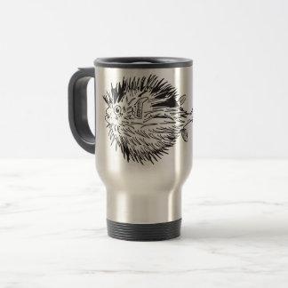 Porcupinefish  aka blowfish travel mug