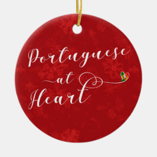 Porguguese At Heart, Christmas Tree Ornament