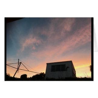 Porirua Sunset skies card