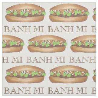 Pork Banh Mi Vietnamese Food Sandwich Fabric