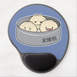 Pork Bun dim sum Chinese breakfast steamed bbq bun Gel Mouse Pad