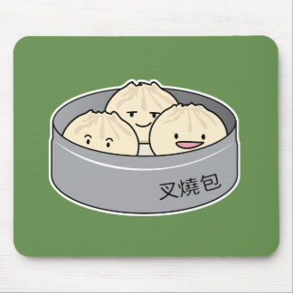 Pork Bun dim sum Chinese breakfast steamed bbq bun Mouse Pad