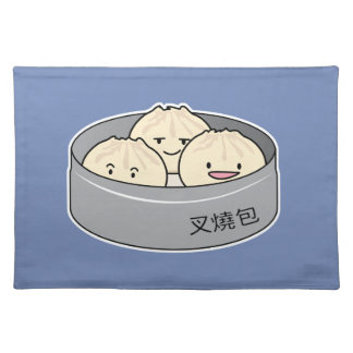 Pork Bun dim sum Chinese breakfast steamed bbq bun Placemat