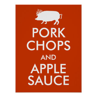 Pork Chops and Apple Sauce Poster