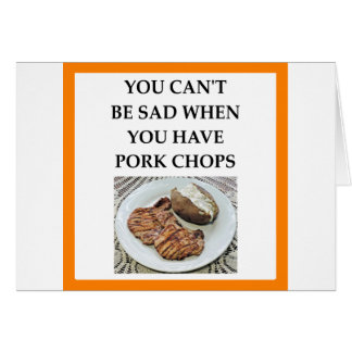 pork chops card
